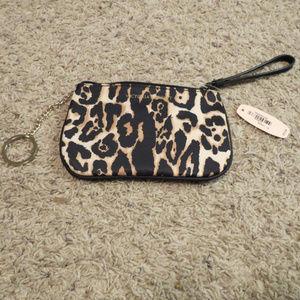 Brand New VS Wristlet in Leopard Print